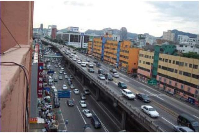 Here's Seoul before...