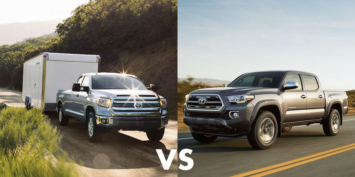 Tundra Vs Tacoma >> 2016 Tayota Tacoma Vs Toyota Tundra Comparing Two Trucks
